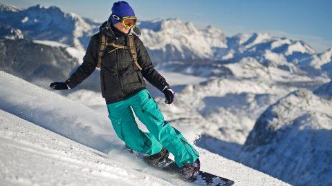 Snowboarden winter